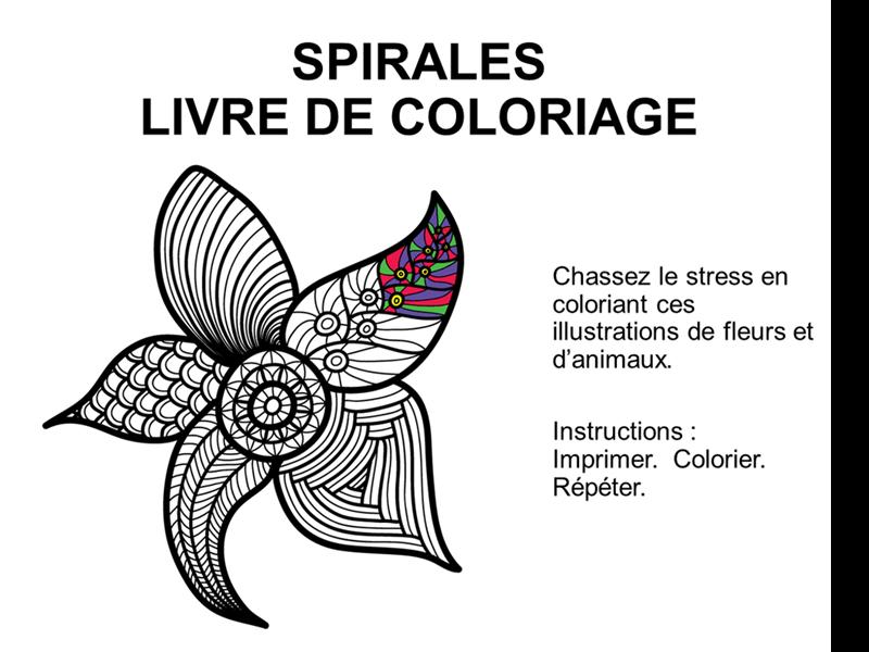 Album de coloriage Spirales