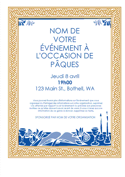 Invitation pour la fête de pâque juive