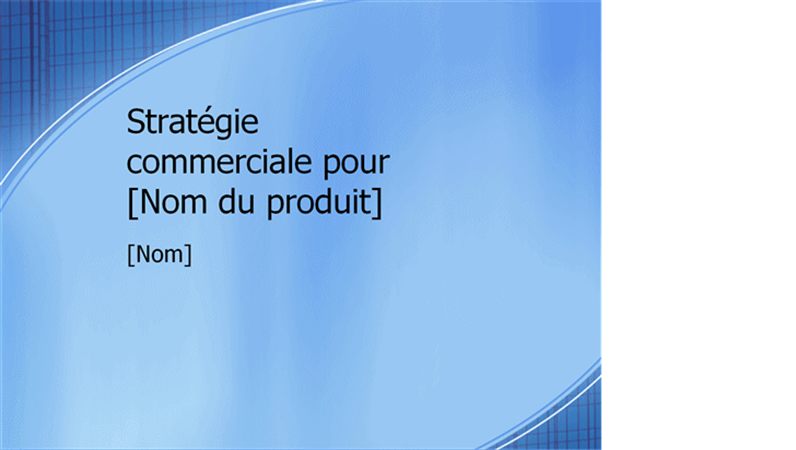 Présentation d'un plan marketing