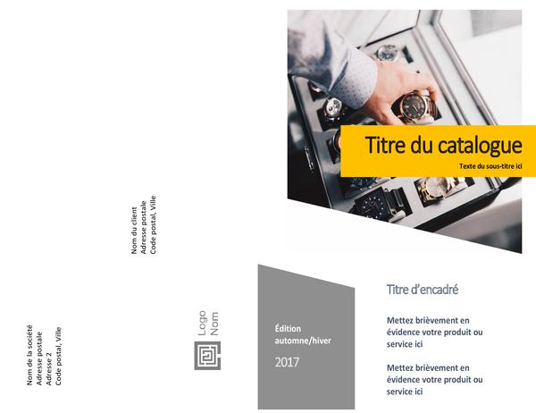 Catalogue de produits (création Formulaires, pliable en deux, 8pages)