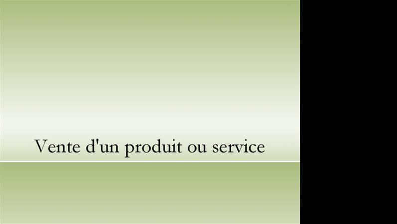 Présentation de produit ou service
