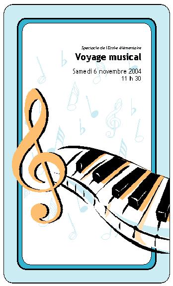 Programme Concert de l'école