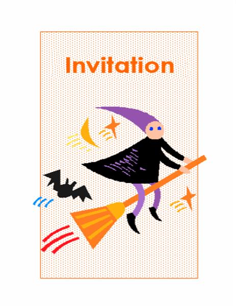 Carton d'invitation pour Halloween