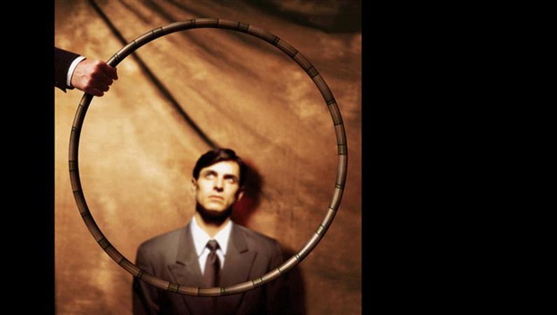 Diapositive - Image d'un cerceau dans lequel passer