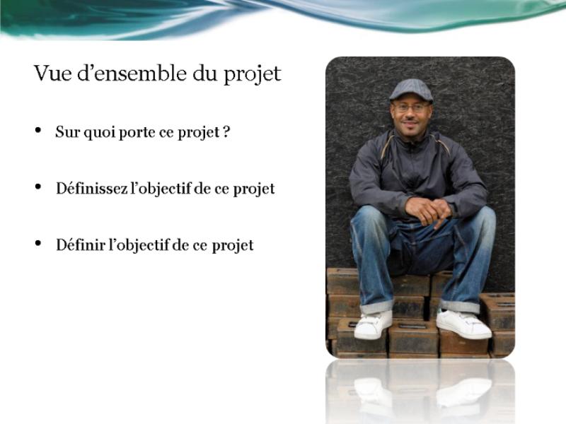 Présentation de rapport d'état du projet