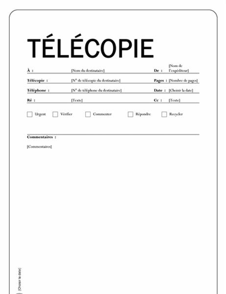 Télécopie (Thème Capital)