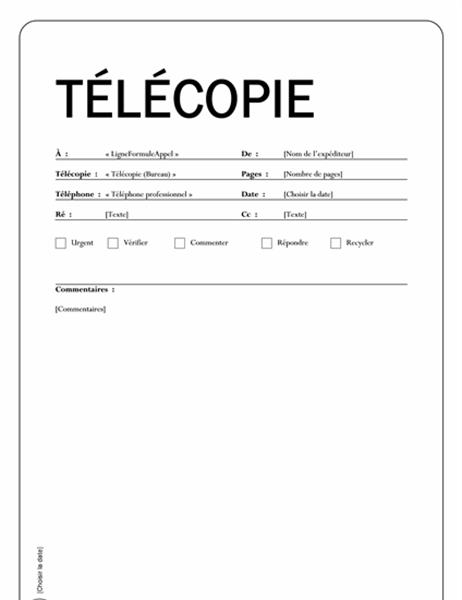 Télécopie publipostage (Thème Capital)