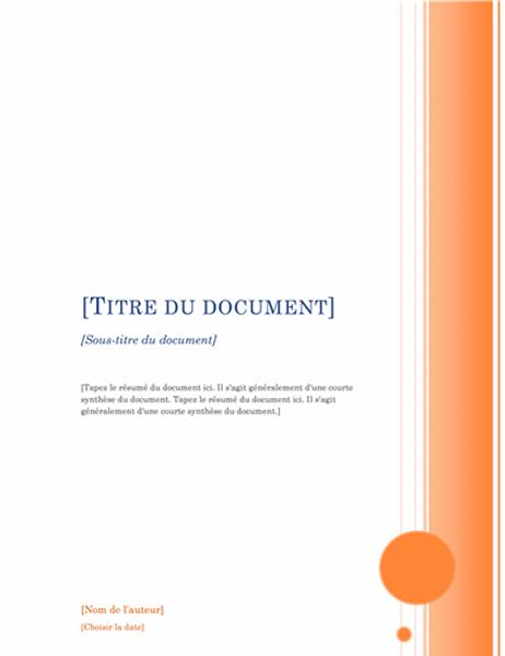 Rapport (Thème Oriel)