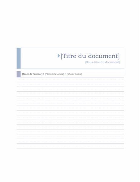 Rapport (Thème Origin)