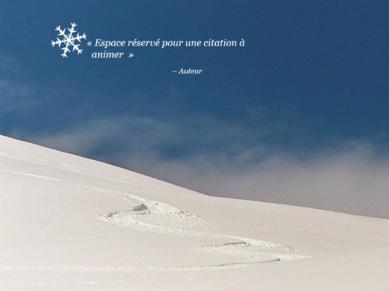 Scène de neige animée