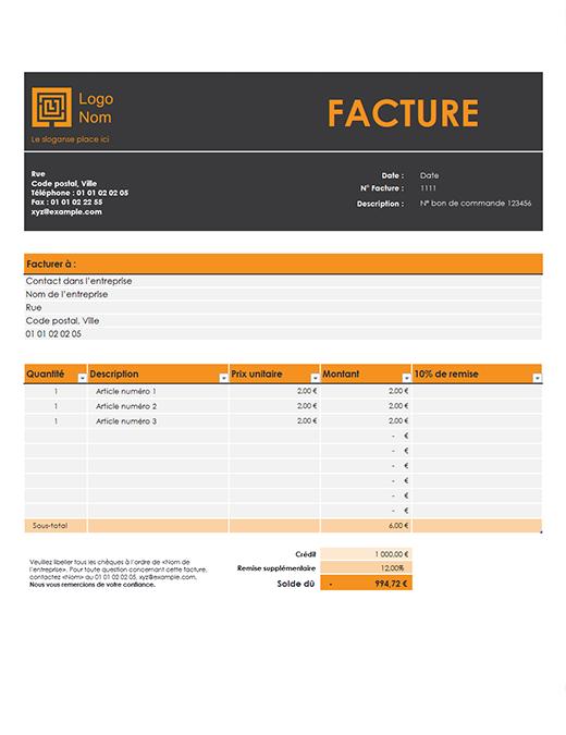 Facture client