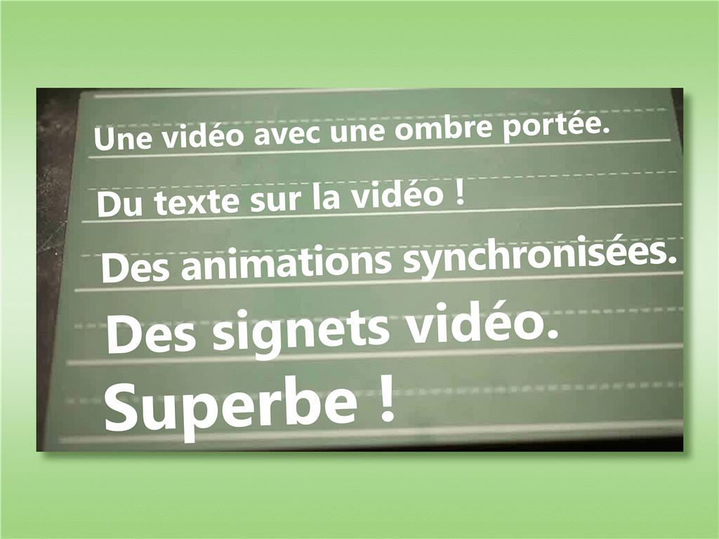Texte sur vidéo