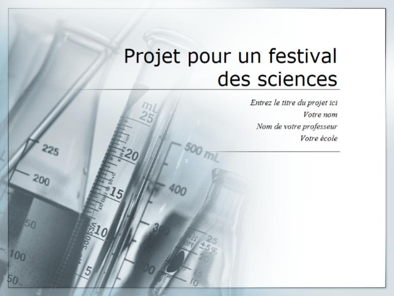 Présentation Projet pour un festival des sciences