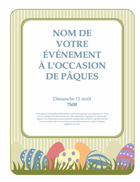 Invitation pour la fête de Pâques (avec œufs)