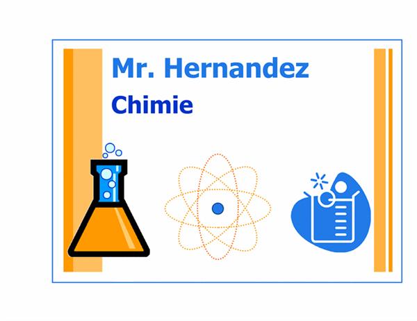 Étiquette de classe (de chimie)