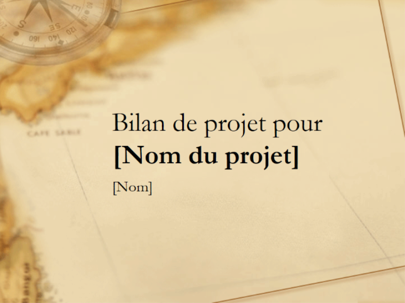 Présentation d'un bilan de projet