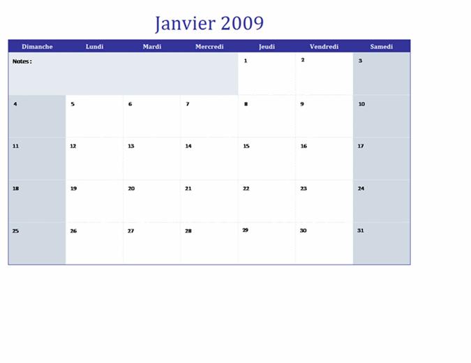 Calendrier 2009 sur plusieurs feuilles de calcul