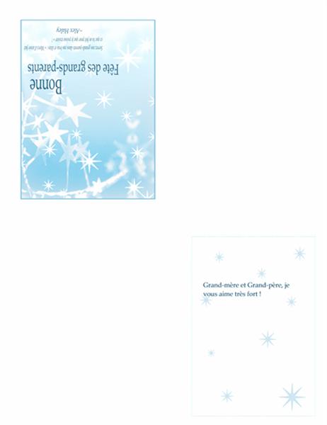 Carte de fêtes pour les grands-parents (Motif Étoiles)