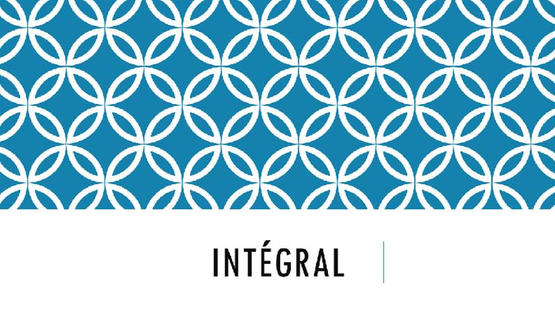 Intégrale