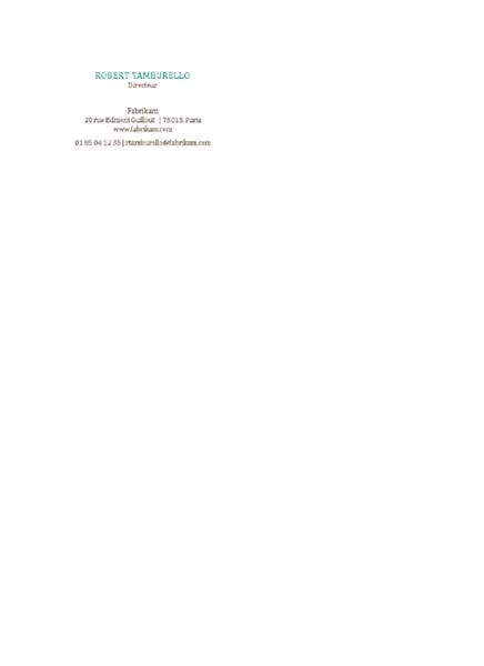 Cartes de visite, mise en page horizontale, sans logo, nom en majuscules
