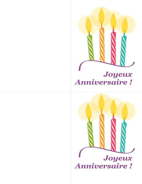 Cartes d'anniversaire