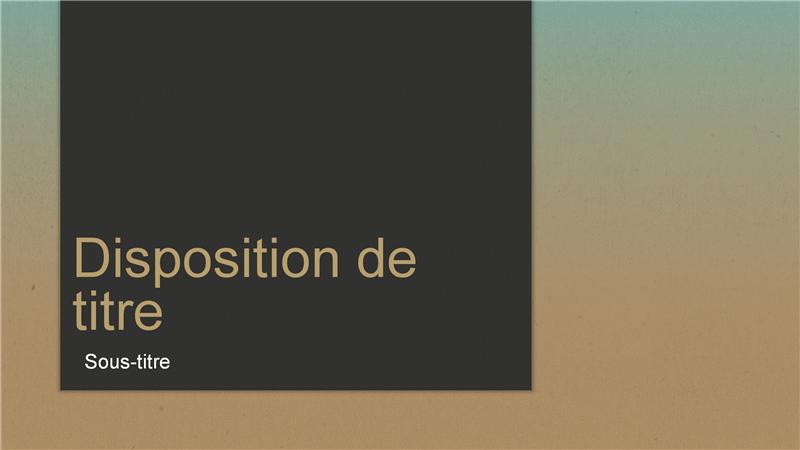 Présentation dégradé bleu (grand écran)