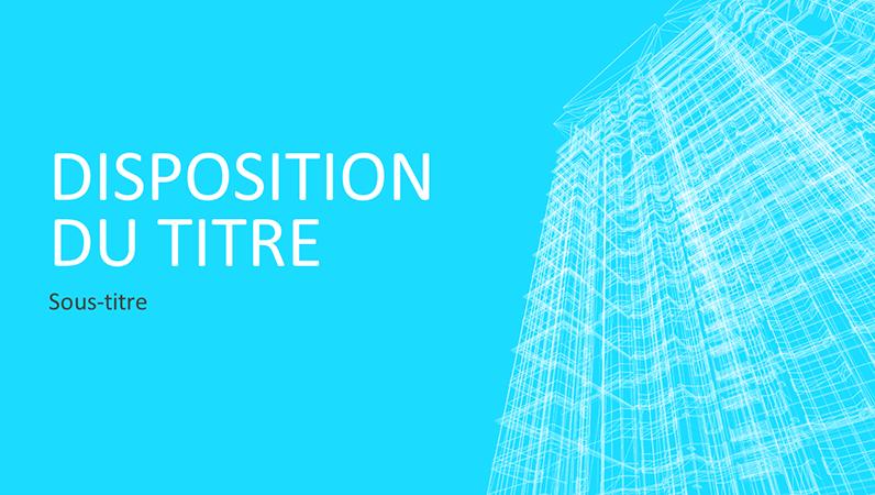 Présentation Structure de bâtiment (grand écran)