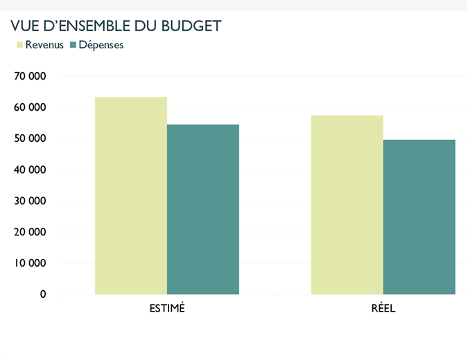 Budget d'entreprise mensuel