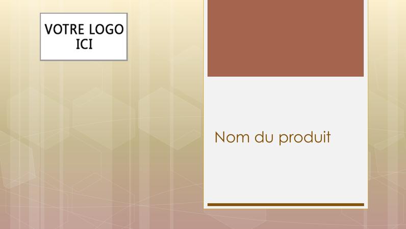 Présentation générale d'un produit commercial