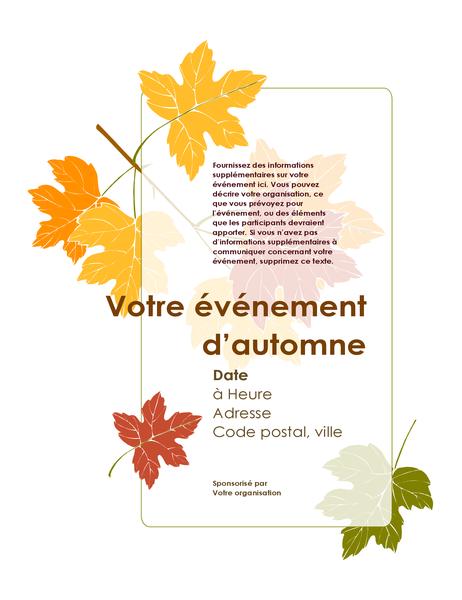 Prospectus pour événement d'automne (avec feuilles)