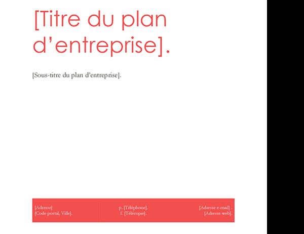 Plan d'entreprise