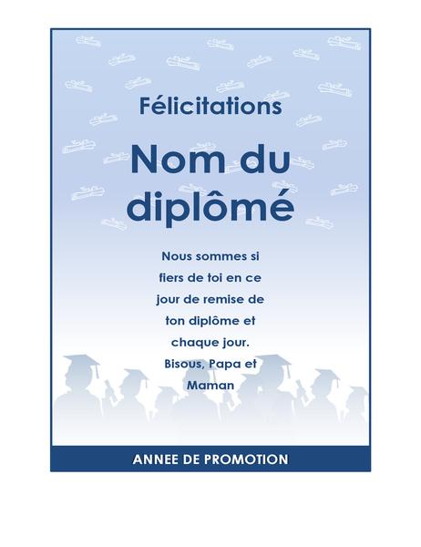 Dépliant de félicitations pour diplômés (jeu de créations Fête de diplômes)
