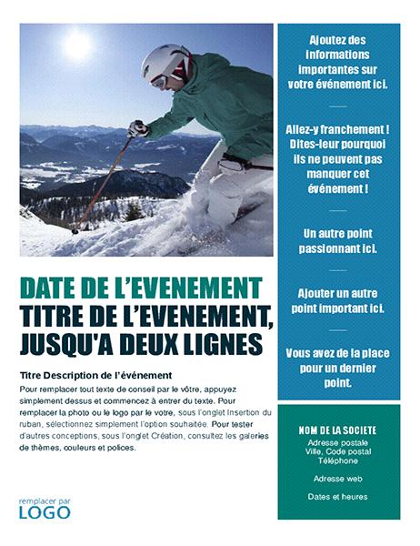 Prospectus d'événement saisonnier (hiver)