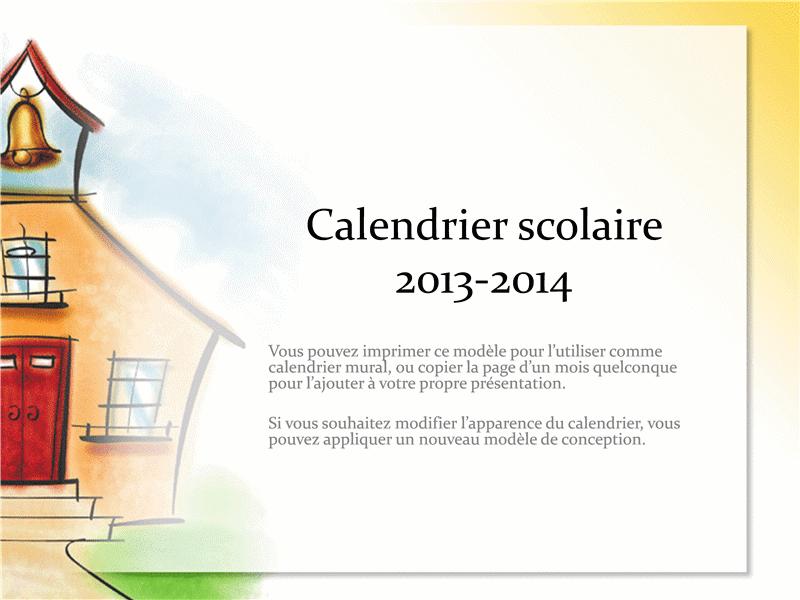 Calendrier scolaire 2013-2014 (conception École)