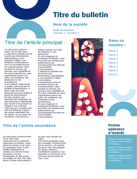 Bulletin d'informations professionnel (conception arc, 4 pages)