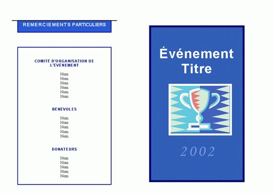 Programme de l'événement