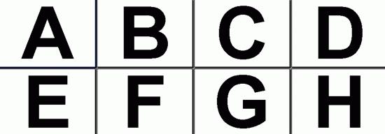Chiffres et lettres (bannières, 8,5 x 11)
