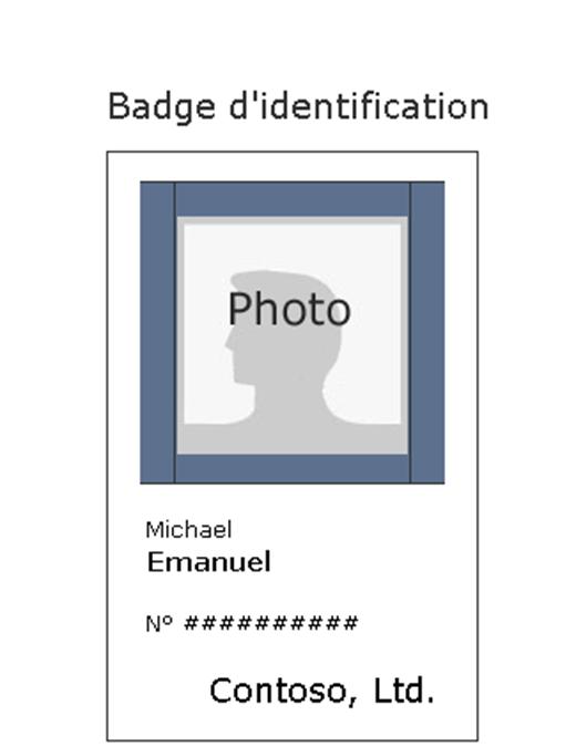 Badge des employés (portrait)