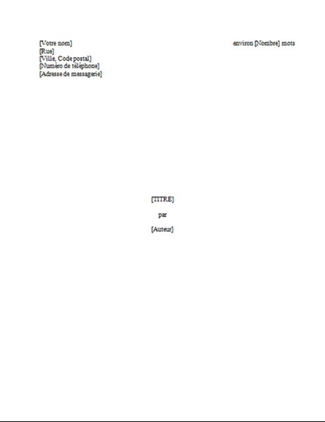 Manuscrit d'un ouvrage