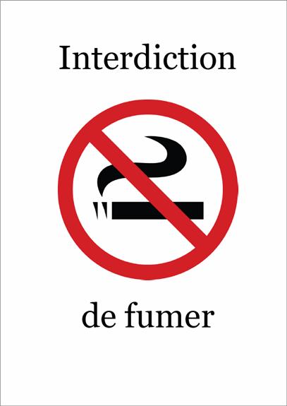 Panneau Interdiction de fumer (couleur)