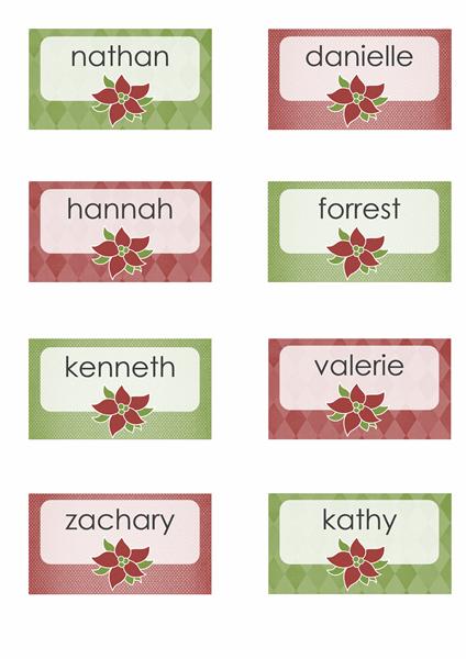 Marque-places pour les fêtes de fin d'année (compatible Avery 8371, 8376, 8377, 8811)