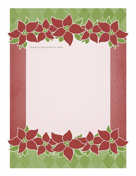 Papier à lettres de vacances (style Poinsettia)