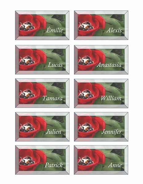 Cartes marque-place (fleurs)
