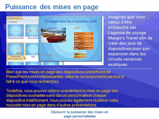 Présentation de formation: PowerPoint2007—Découvrir la puissance des mises en page personnalisées