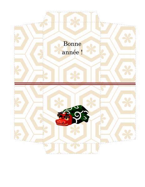 Enveloppe Argent (motif de lion classique)