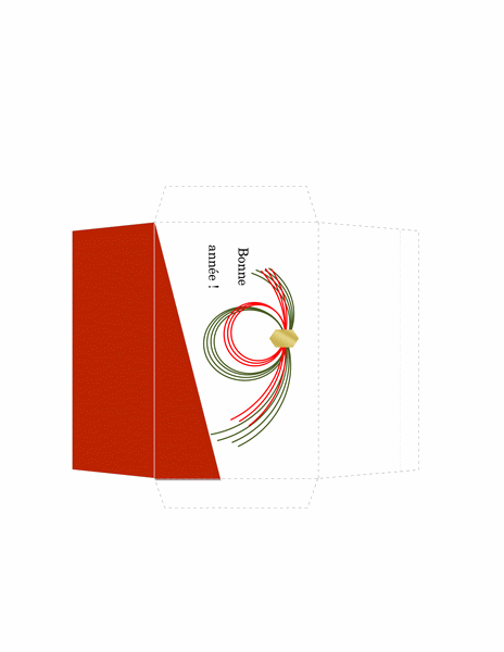 Enveloppe Argent (motif classique rouge)