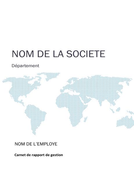 Kit Pour Carnet De Rapport D Activité Page De Garde