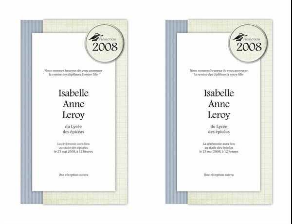 Annonce de remise des diplômes (Modèle Textures)