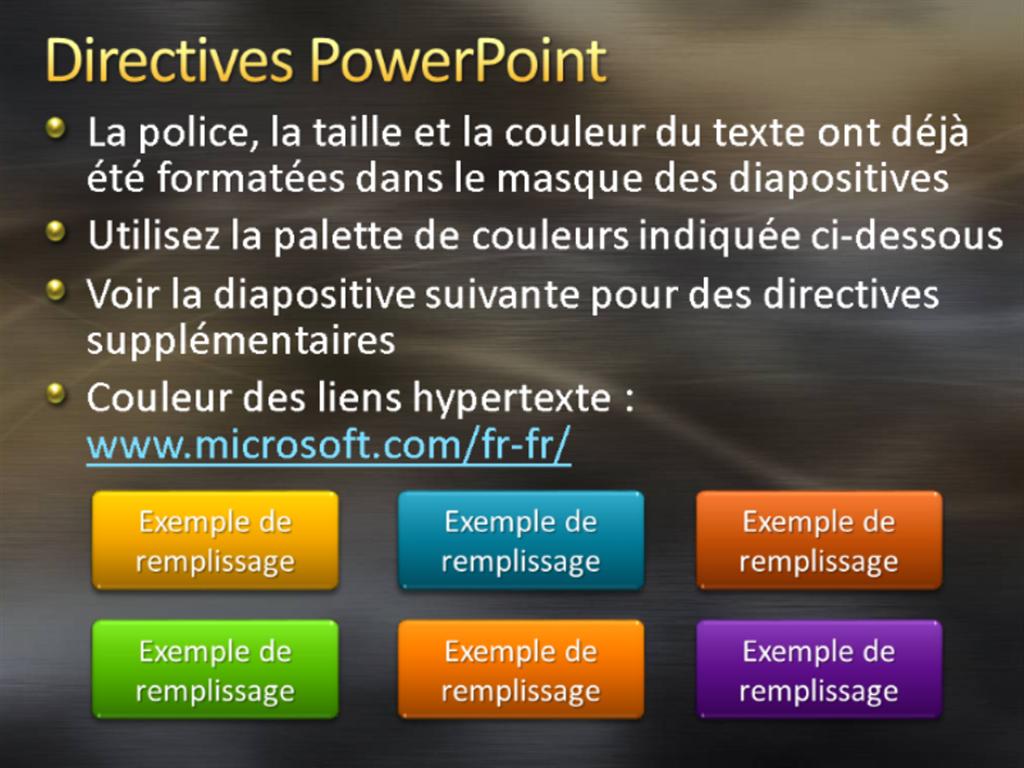 Exemples de diapositives de présentation (conception Métal brossé et courbes gris)