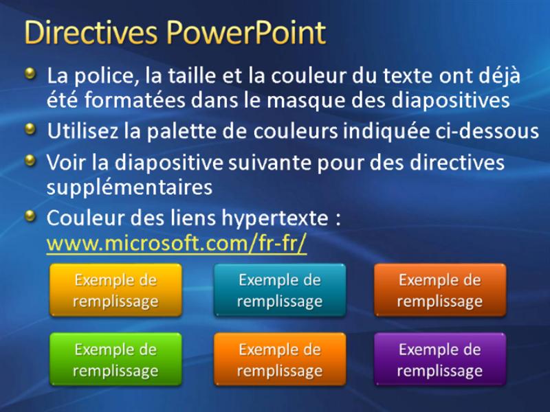 Exemples de diapositives de présentation (conception Coup de pinceau bleu foncé)